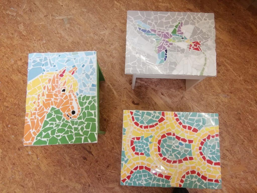 Mosaiktisch bauen